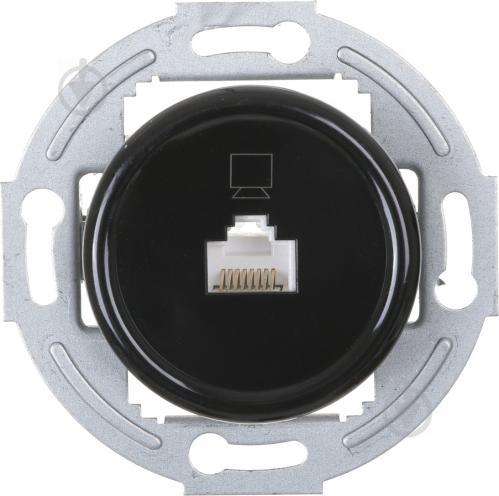 Механізм розетки комп'ютерна UP! (Underprice) Retro чорний HSN-SCP.H1G1PC-BK - фото 1