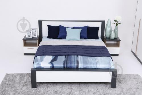 Ліжко Embawood Леді W1600 160x200 см дуб сонома/антрацит