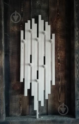 Вешалка настенная Вешалка настенная белая патина - фото 1