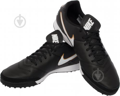 Футбольні бутси Nike Tiempo Genio II Leather TF 819196-638 р. 11 чорний із білим
