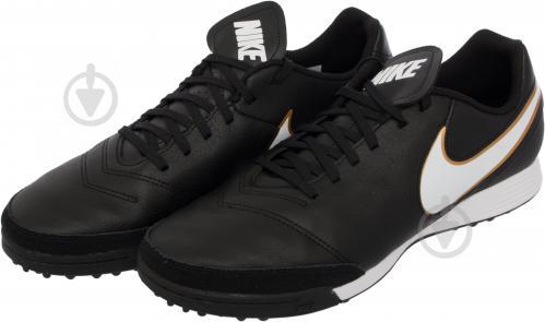 Футбольні бутси Nike Tiempo Genio II Leather TF 819196-638 р. 11 чорний із білим - фото 2