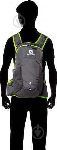 Рюкзак Salomon Trail 20 л серый с зеленым L37998300 - фото 5