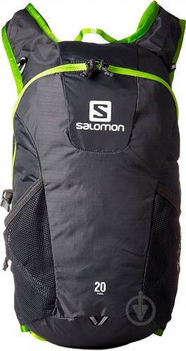 Рюкзак Salomon Trail 20 л серый с зеленым L37998300 - фото 2