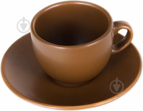 Чашка с блюдцем Табако 95 мл 24-237-048 Keramia - фото 3