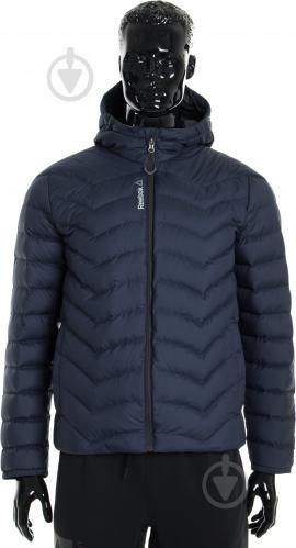 Куртка Reebok с капюшоном р. L синий AX8998