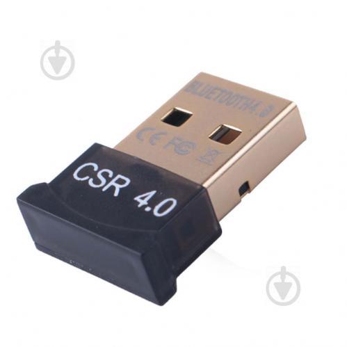 Mini USB Bluetooth 4.0 адаптер для компьютера Черный (1051087368) - фото 1