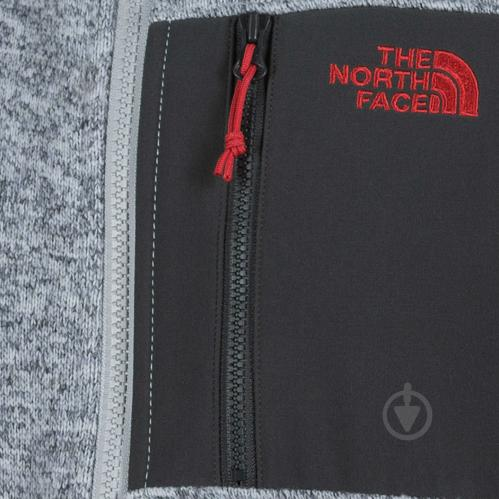 Джемпер THE NORTH FACE M Arashi Inner Fleece р. XL серый меланж T937FQDYX - фото 3