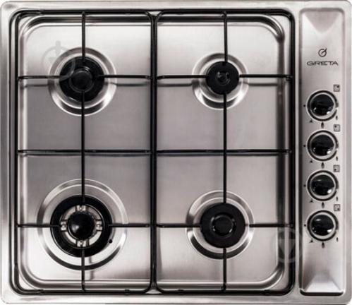 Варочная поверхность Greta СВ-4 stainless steel - фото 1