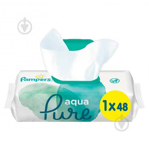Детские влажные салфетки Pampers Aqua Pure 48 шт. - фото 1