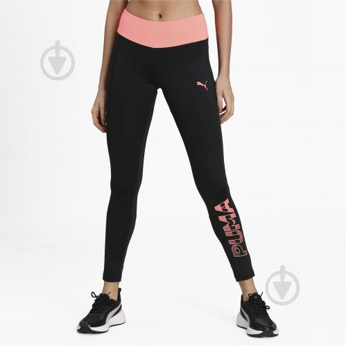 Лосины Puma Womens TRG Big Logo Legging 58539351 р.XL черный - фото 1