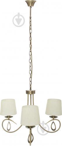 Люстра подвесная Victoria Lighting 3x40 Вт E14 античная бронза Lin/SP3 - фото 2