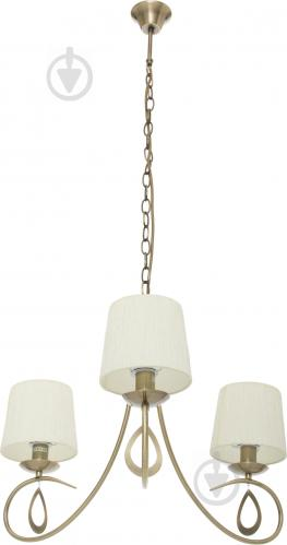 Люстра подвесная Victoria Lighting 3x40 Вт E14 античная бронза Lin/SP3