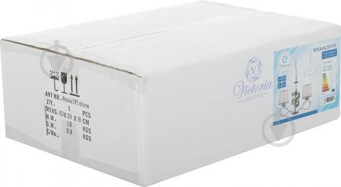 Люстра підвісна Victoria Lighting 3x40 Вт E14 хром/срібло Rosalia/SP3 - фото 4