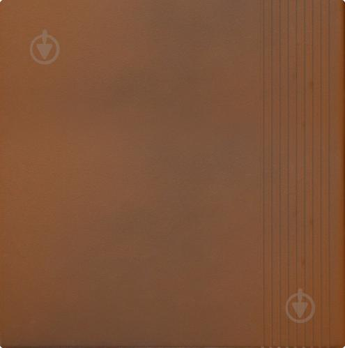Клінкерна плитка OLD CASTLE Dark brown stopnica 30x30 Cerrad - фото 1