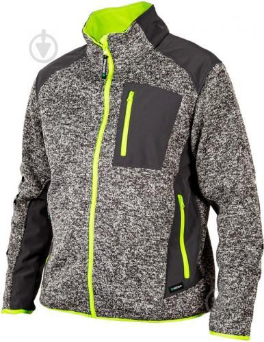 Куртка Sizam Bristol софтшелл р. S рост универсальный 30180 серый с желтым - фото 1
