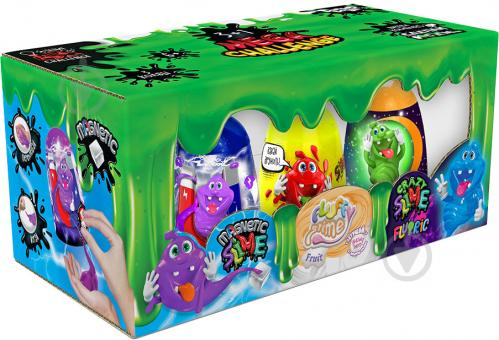 Ароматний слиз-лизун Danko Toys 3 в 1: Magnetic Slime, Fluffy Slime, Crazy Slime Fluoric рос. SLM-14-01 - фото 1