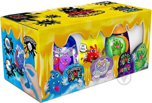 Ароматний слиз-лизун Danko Toys 3 в 1: Magnetic Slime, Fluffy Slime, Crazy Slime Fluoric укр. SLM-14-01U - фото 1