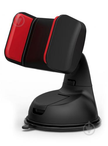Тримач для телефона Promate Mount-2 чорний із червоним - фото 1