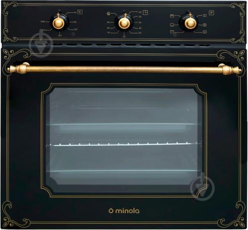 Духовой шкаф Minola OE 66134 BL RUSTIC GLASS - фото 1