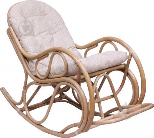 Крісло-гойдалка Indigo Агата з натурального ротангу 100x60x140 см бежевий - фото 1