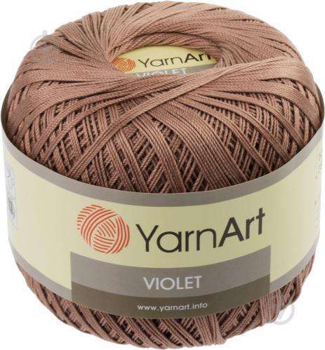 ᐉ пряжа для вязания Yarnart Violet 0015 темно бежевый купить в