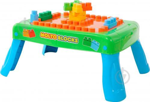 Ігровий набір Полісся Стіл-конструктор 20 елементів зелений 57990 - фото 1
