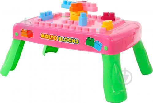 Ігровий набір Полісся Стіл-конструктор 20 елементів рожевий 58010 - фото 1