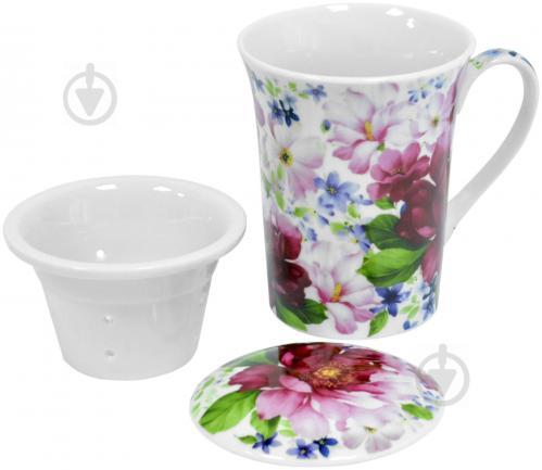 Чашка с заварником Шиповник 390 мл Keramia - фото 5