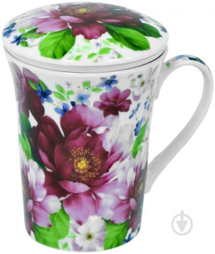 Чашка с заварником Шиповник 390 мл Keramia - фото 4