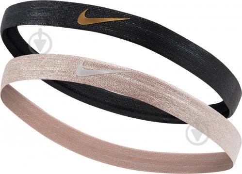 Бандана Nike SHINE HEADBANDS 2PK N.000.3525.015 р.OSFM черный - фото 1