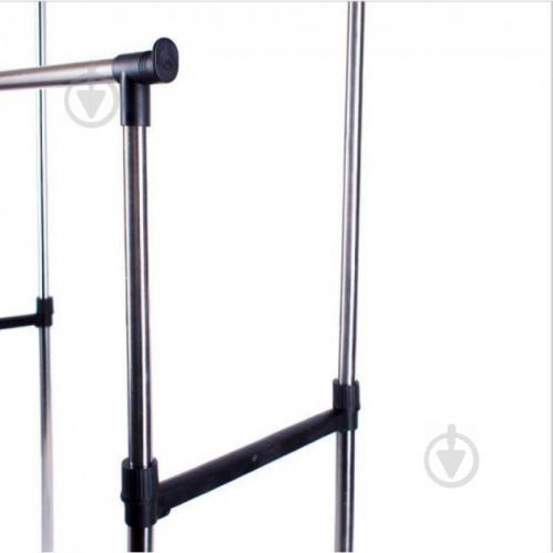 Телескопическая напольная вешалка-стойка для одежды Double-Pole Черный (258535) - фото 5