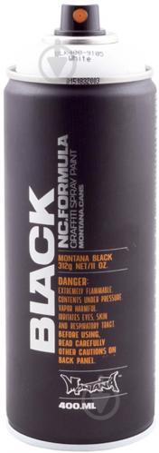 Фарба аерозольна Montana BLACK 9105 білий мат 400 мл