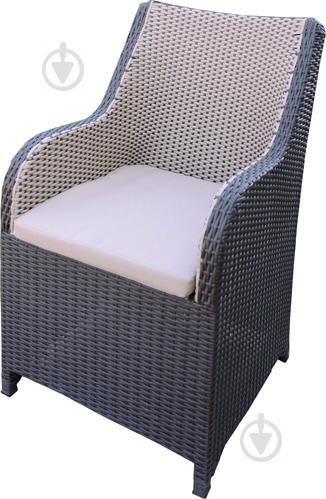 Кресло Rattwood М.О. 2097 92x56x71 см черно-белый - фото 1