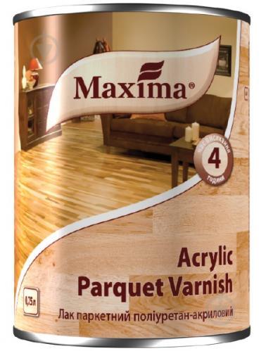 Лак паркетний поліуретан-акриловий Acrylic parquet varnish Maxima шовковистий мат безбарвний 0,75 л - фото 1