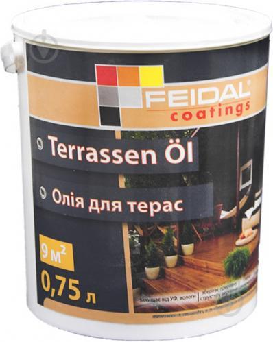Масло для древесины Feidal Terrassen Ol бесцветный шелковистый мат 0,75 л - фото 1