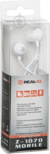 Гарнітура REAL-EL Z-1070 Mobile white - фото 4