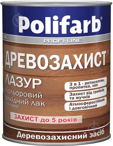 Лазурь Polifarb Деревозащита темный дуб глянец 0,7 кг - фото 2