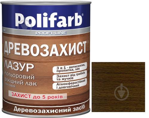 Лазурь Polifarb Деревозащита темный дуб глянец 0,7 кг - фото 1