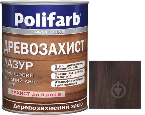 Лазурь Polifarb Деревозащита полисандр глянец 0,7 кг - фото 1