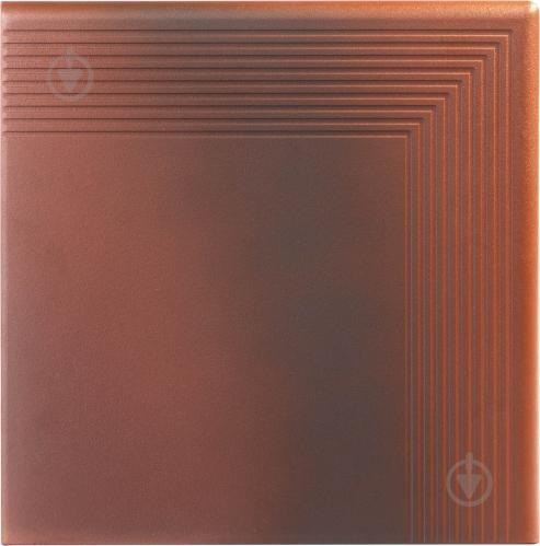 Клінкерна плитка OLD CASTLE RED STOPNICA NAROZNA 30х30х1,1 Cerrad - фото 1
