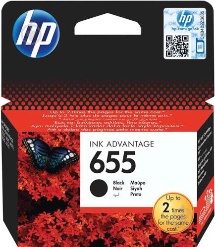 Картридж HP Ink Advantage 655 CZ109AE black