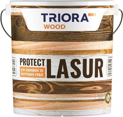 Лазурь Triora акриловая для древесины безцветный шелковистый глянец 2,5 л - фото 1