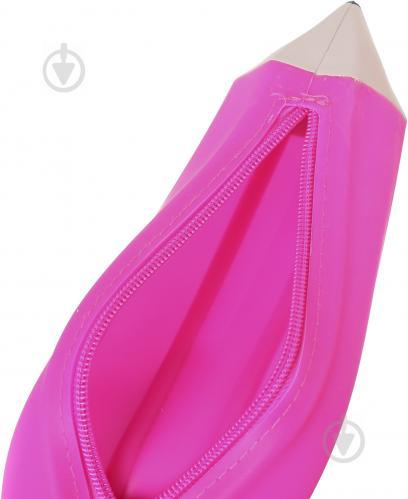Пенал силиконовый SP180513 Карандаш розовый - фото 3