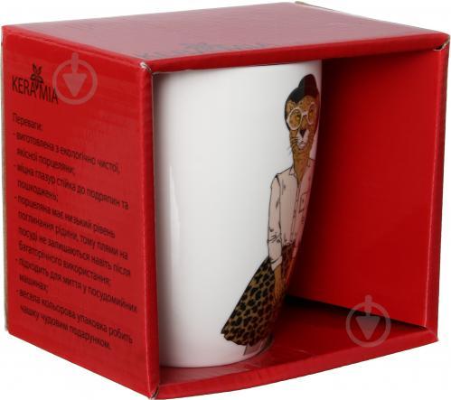 Чашка Модные звери Мисс Леопард 360 мл 21-272-068 Keramia - фото 6