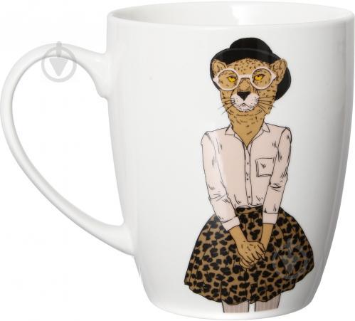 Чашка Модные звери Мисс Леопард 360 мл 21-272-068 Keramia - фото 5