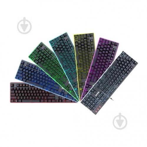 Клавиатура игровая Redragon Dyaus K509 UA 7 colors (77625) black - фото 1