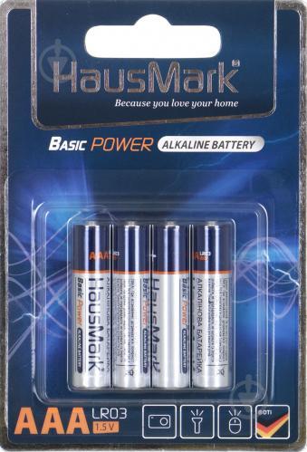 Батарейка HausMark Basic Power ААА 4 шт. (MST-AL4ААА) - фото 1