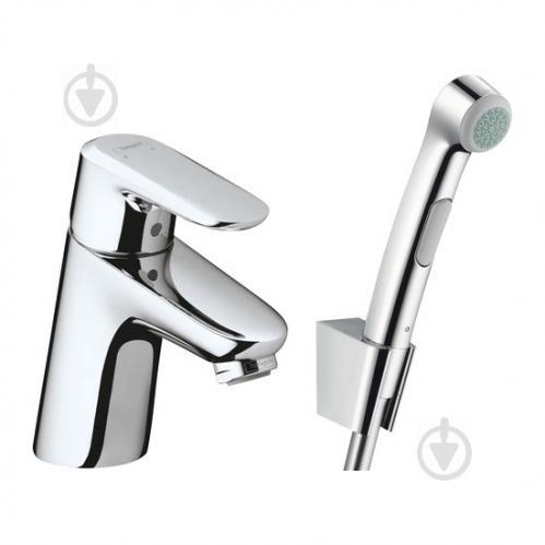 Змішувач для умивальника Hansgrohe з гігієнічним душем Ecos 32126000 - фото 1