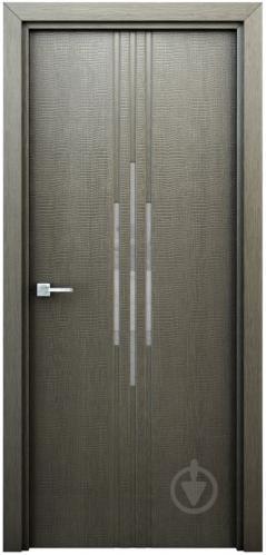 Дверне полотно Інтер'єрні двері Сафарі ПО 800 мм сірий