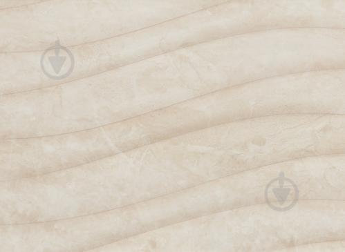 Плитка Карпатська Кераміка Глорія бейге хвиля 25х75 - фото 2